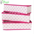 Foldable Fabric Storage Box Closet Organizer for Bras Underwear and Socks