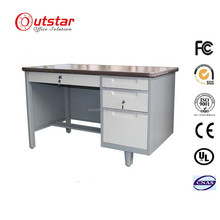 High quality cheap modern 3 drawer metal office desk
