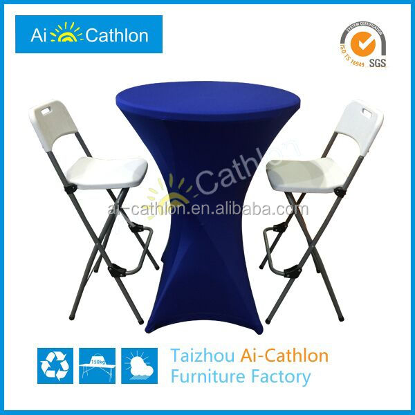 Cheap Good Quality Foldable PE Cocktail Table Modern Portable Folding Bar Cocktail Tables