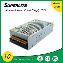 Hot Selling 250w smps 110v/220v Ac input to dc led driver 24v switching power supply