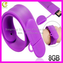 Silicon Wristband Slap Band Bracelet 4GB 8GB 16GB USB Flash Drive,usb hub