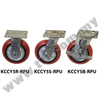 "5"" KCCY Medium Duty Red PU Wheel Castor, Castor Wheel"