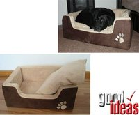Deluxe Memory Foam Pet Bed - Faux Suede Dog Bed