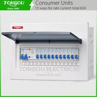 15way Total 60A Current TOCU electrical distribution box switches household business Industrial consumer unit