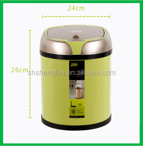 High quality Hotel red color Automatic Sensor Touchless trash can