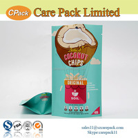 Newest high quality aluminum doypack custom printed bag design for potato chips