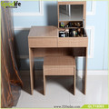 Home furniture antique dressing table with mirror and stool