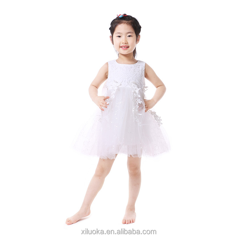 Organza wholesale boutique girl bubble dress clothes wedding dress