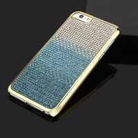 Luxury Diamond Shining Color Changing Electroplated Hard Phone Case For Apple Iphone 6