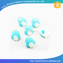 fancy plastic blue shank button for children clothing