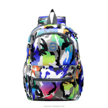 Shenzhen supplier colourful camouflage nylon school bag for students backpack for kids