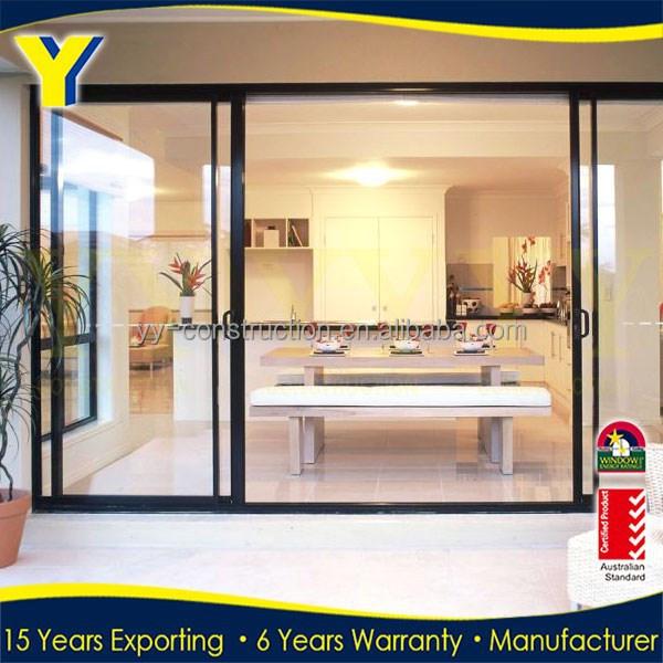 Glass partition door soundproof interior sliding door for Interior sliding partition doors