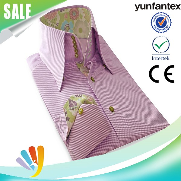 2017 cotton winter long sleeve leisure shirt for men high quality yunfantex OEM & ODM service