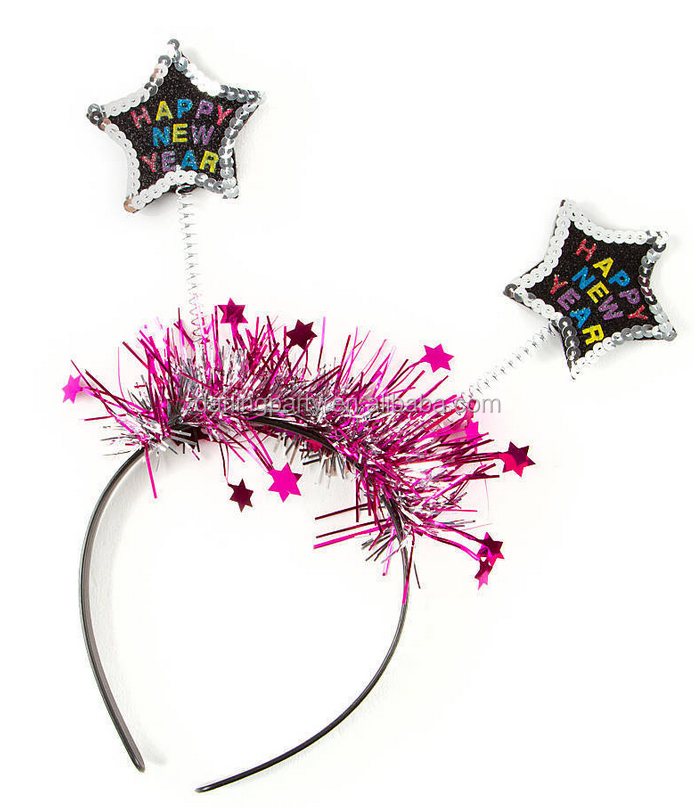 New Claire's HAPPY NEW YEAR Black & Pink Headband with Tags