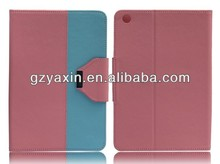 Double color triangle stand case for ipad mini with cheap price