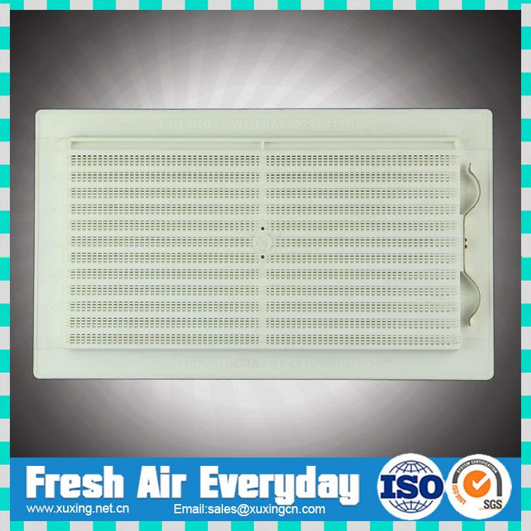 Hvac plastic valve air vent pvc plastic supply air grille for Grille de ventilation fenetre pvc