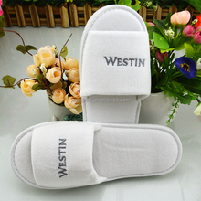 NEW White Spa Shoes Travel Washable Luxury Hotel Guest Slippers For Hotel Amenities Supplies