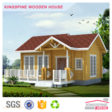 One-bedroom Prefabricated log cabin with terrace KPL-007