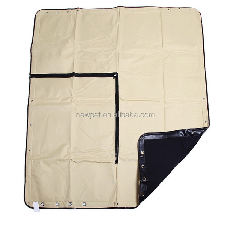 Factory supply new coming waterproof treatment hammock style pad double stitching car dog seat cover