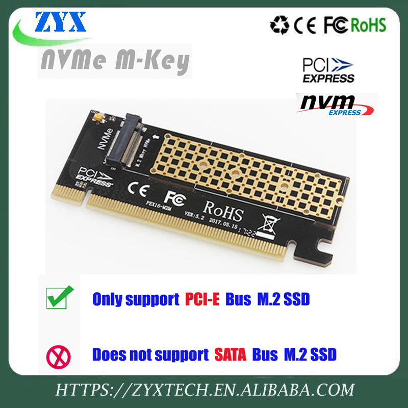 M.2 NVMe SSD NGFF TO PCIE 3.0 X16/X4 adapter M Key interface card Support PCI Express 3.0 x4