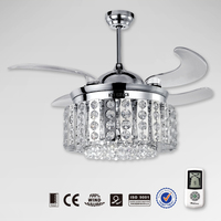 44 inches crystal ceiling fan parts 44WG-9019