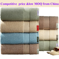 wholesale 100% combed cotton yarn terry towel stock lot for hotel supply