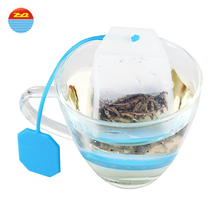 Best Cute Green Triangle Organic Mesh Infusion Empty Bulk Custom Filter Pyramid Infusion Silicon Silicone Tea Bag With String