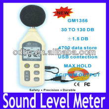Free shipping Digital Sound Pressure Level Meter 30 ~ 130 dB Decibel USB Noise Measurement