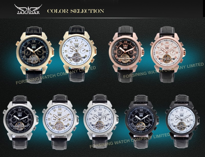 Day/Date,Auto Date,Customized logo 2016 Famous Top Brand Jargar men's watches for activity