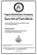 Euro Art of Tart Soft-Serve Yogurt Mix