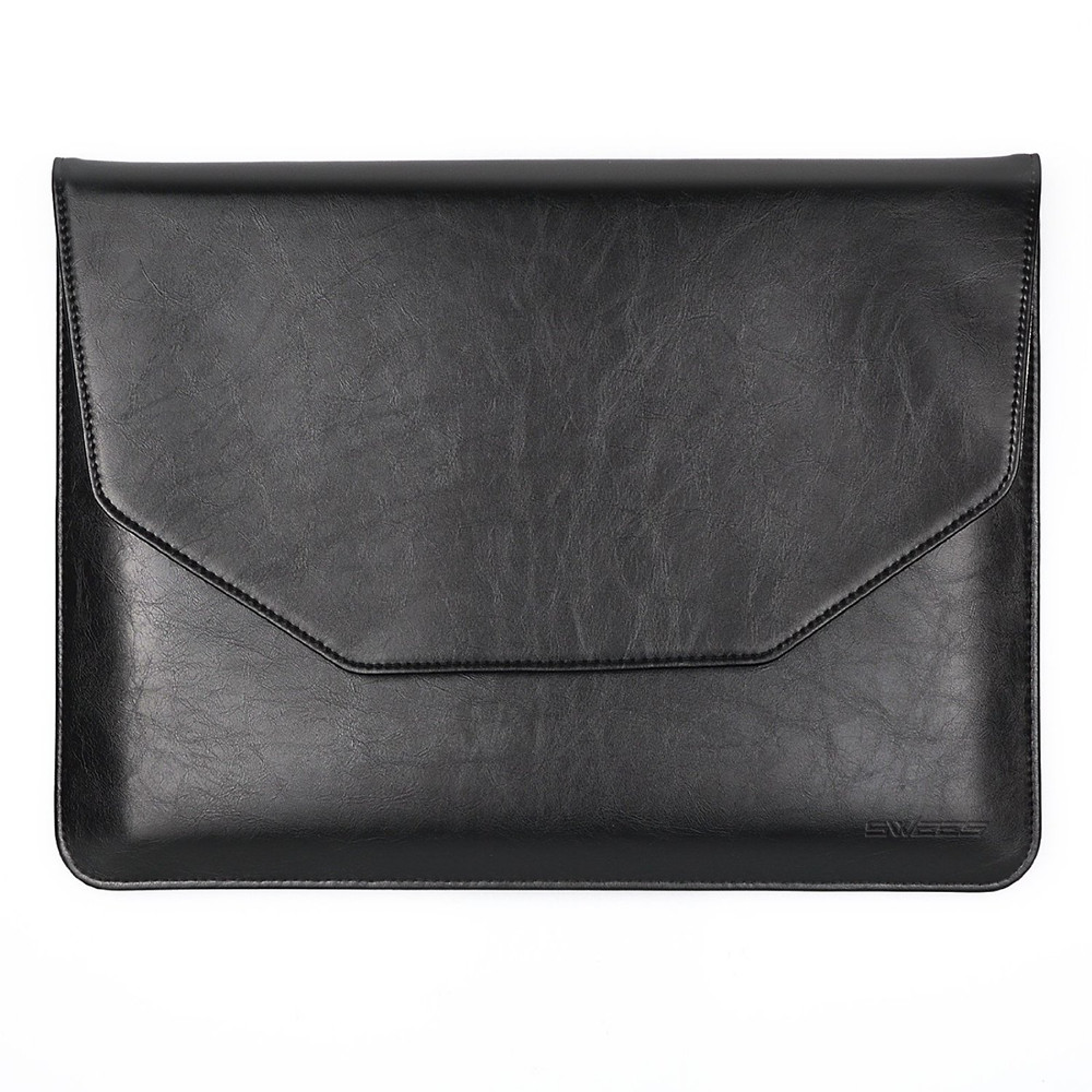 "Classic Black color Sleeve Bag for 12"" Apple New Macbook PU Leather Carrying Laptop Notebook"