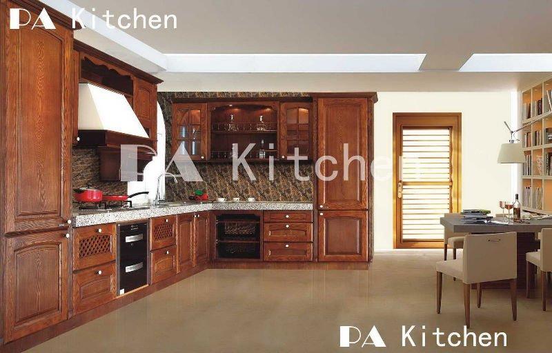 Mueble de cocina muebles de cocina de madera sólidaGreen village