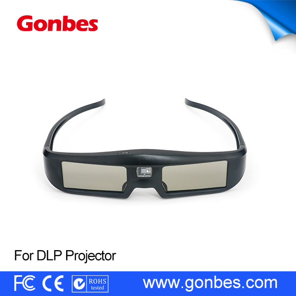 2017 new active shutter dlp link 3d ready glasses for Optoma LG Acer projectors