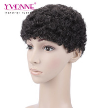 High quality human hair natural afro wigs for men price