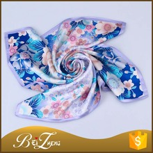China Supplier Custom Fashion Digital Printing Chinese Women 100% silk scarf