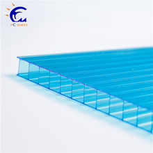 10mm good light transmission four wall polycarbonate panel/sheet