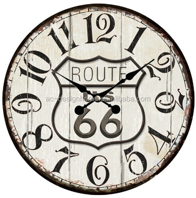 ROUTE MDF WALL CLOCK