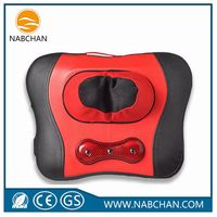 Hot deep-sea magnet stone massager set vibrating massage roller with cushion kneading beat massage