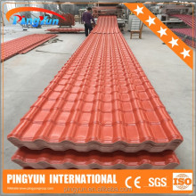 bamboo artificial roof tile for shed/pvc roof tiles/heat resistant roofing sheets