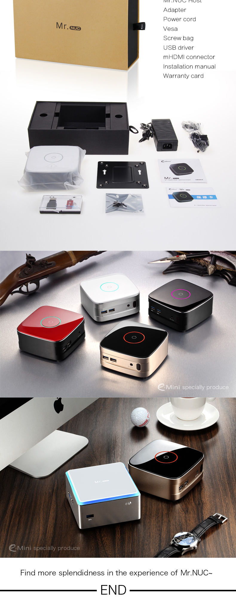 New Arrival Dual Core MINI PC Mr NUC Support And WIFI i5 CPU And Intel HD 5000