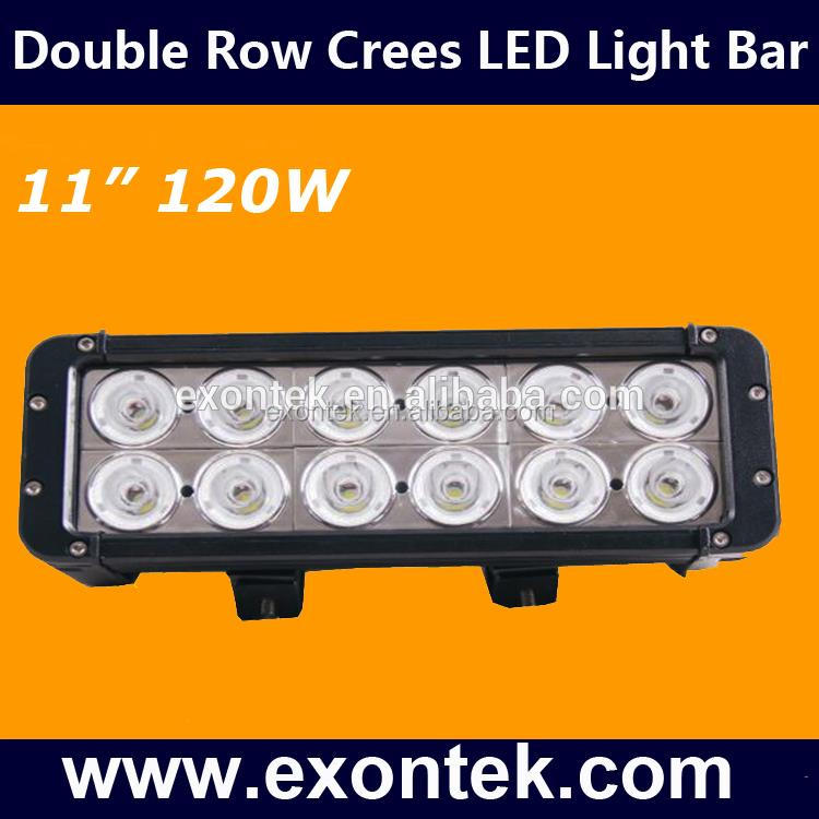 2018 hot sale 2 Row 120W JEEP Wrangler 12PCS*10W Crees LED work light bar 4x4 4WD SUV ATV off road DRL Driving Running Light