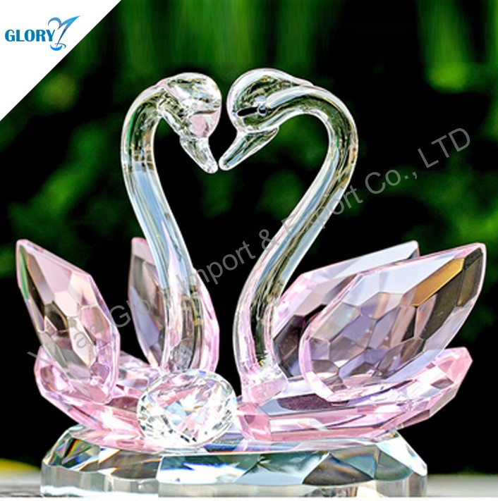 Innovative Best Sell Wedding Favors Crystal Swan Gifts