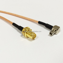 3G modem cable TS9 right angle switch RP-SMA Female Bulkhead pigital RG316 extention antenna Cable