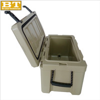 30L Rotational Perfect ice chest with silicane latch rotomolding plastic cooler