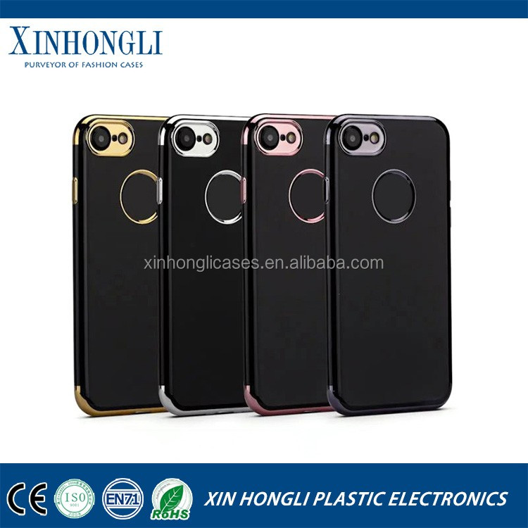 Wholesale Price electroplating tpu case , cell phone case for iphone 7