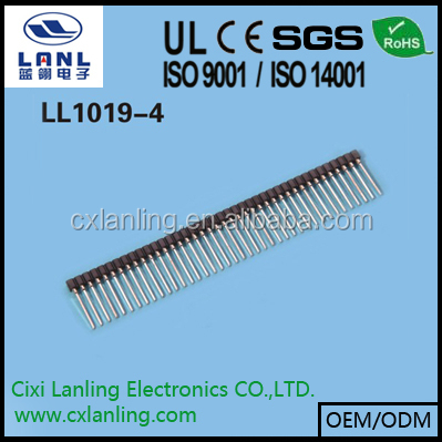 2.54mm single row pin header/SIP IC SOCKET (MACHINE PIN) PITCH 2.54mm PIN LENGTH=11.5/14.3/17.8