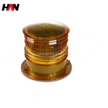 IP68 high waterproof plastic flash solar powered buoy light