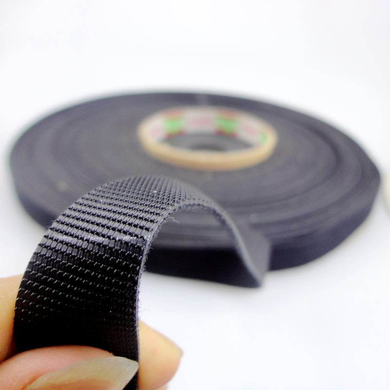 "<strong>Nylon</strong> one wrap 3/4"" 20mm White Black Self gripping hook and loop cable strap"
