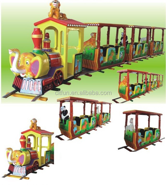CE certificate amusement park electric train ride on track CIT-A0001