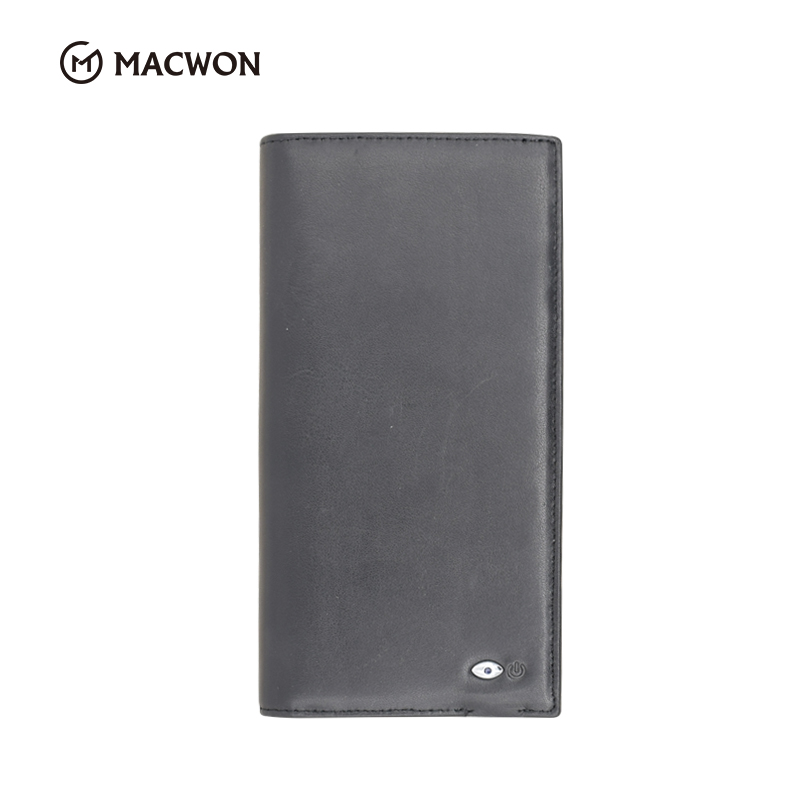 Bluetooth Genuine Leather Men Anti-theft Anti-lost Alarm Smart Phone Wallet